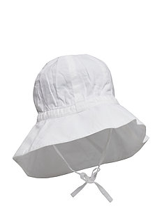 Baby Girl Sun Cap - WHITE