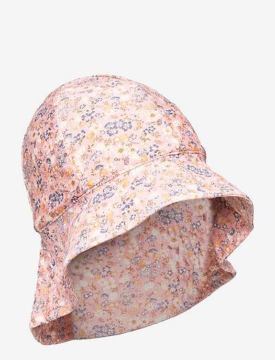 UV Sun Hat - solhat - flowers and seashells
