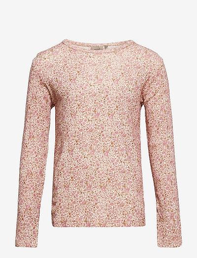 Wool T-Shirt LS - langärmelig - ivory flowers