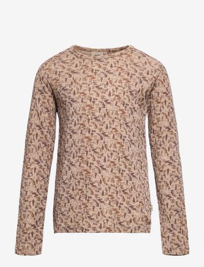Wool T-Shirt LS - langärmelig - khaki wild life