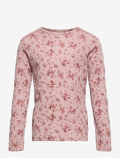 Wool T-Shirt LS - langärmelig - rose flowers