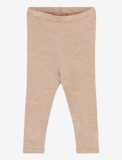 Wool Leggings - leggings - khaki melange