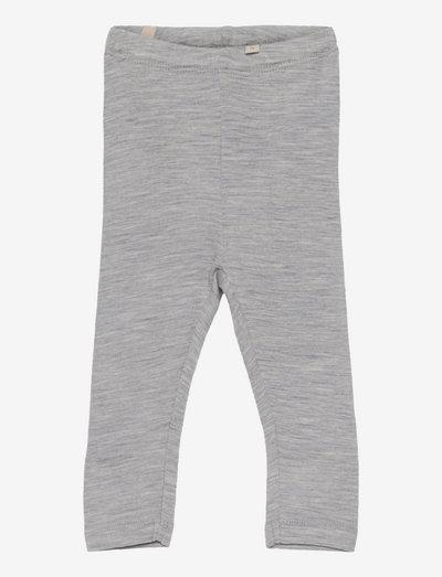 Wool Leggings - leggings - melange grey