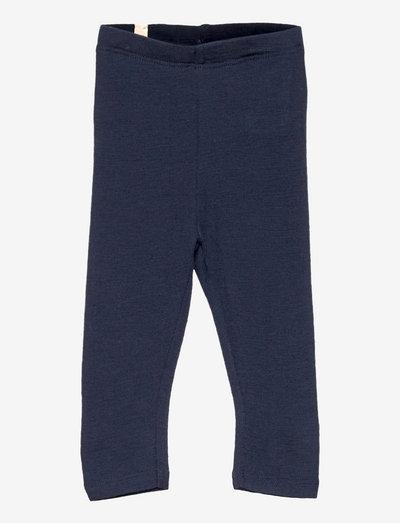 Wool Leggings - leggings - navy