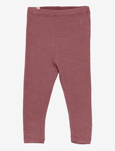Wool Leggings - leggings - rose brown