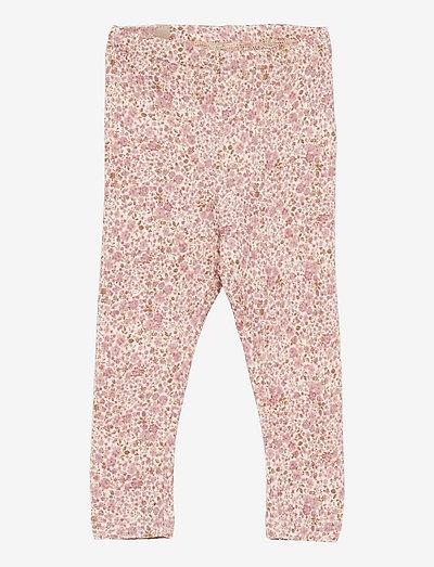 Wool Leggings - leggings - ivory flowers