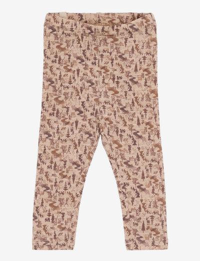 Wool Leggings - leggings - khaki wild life