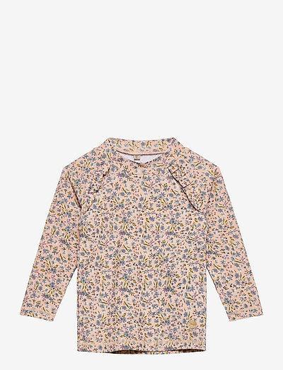 Swim T-Shirt Alma - uv-clothing - blue flowers