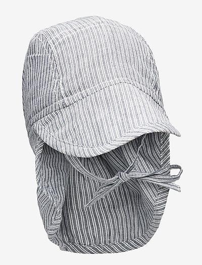 Baby Boy Sun Hat - huer & kasketter - cool blue stripe