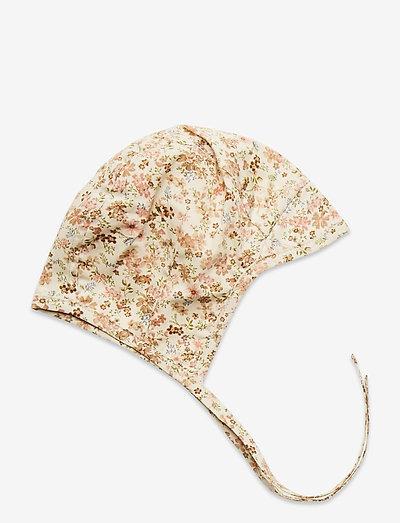 Woven Bonnet Obi - hatte og handsker - eggshell flowers