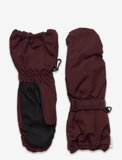 Mittens Tech - hoeden & handschoenen - maroon