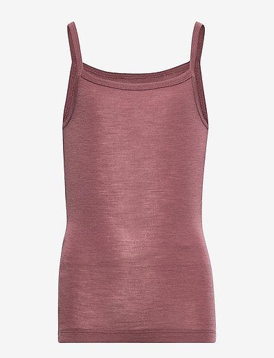 Girls Wool Singlet - overdele - rose brown