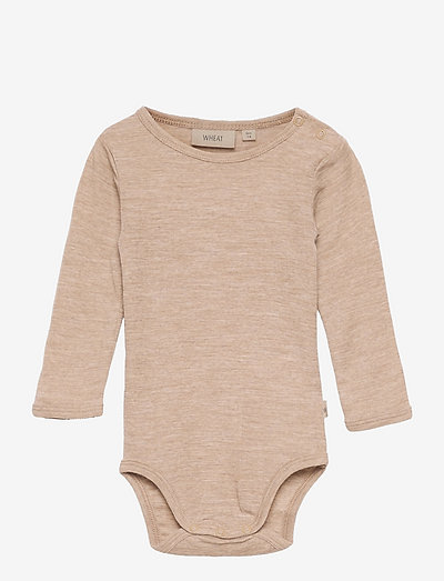 Body Plain Wool LS - langærmede - khaki melange