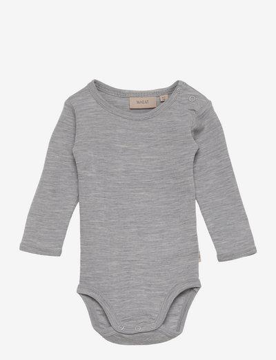 Body Plain Wool LS - langærmede - melange grey