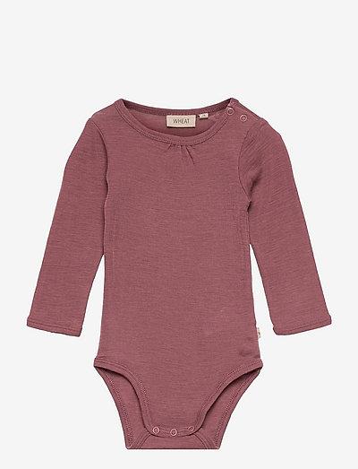 Body Gatherings Wool LS - langærmede - rose brown