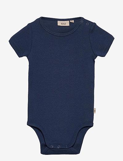 Body Plain SS - einfarbige kurzärmelige bodys - cool blue