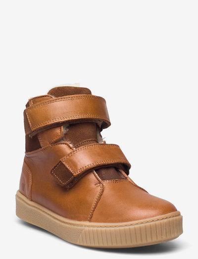 Hunter Velcro Tex Boot - vinterstøvler - cognac