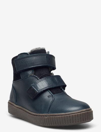Hunter Velcro Tex Boot - vinterstøvler - navy