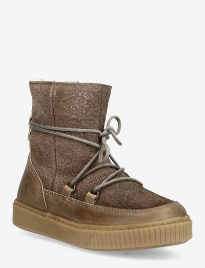 Kaya Lace Tex Bootie - vinterstøvler - taupe