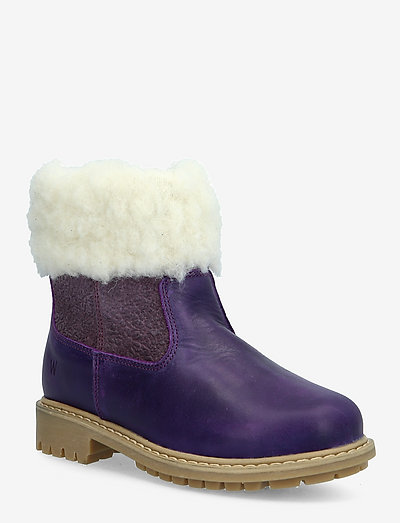 Timian Wool Top Boot - vinterstøvler - berry