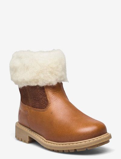 Timian Wool Top Boot - vinterstøvler - cognac