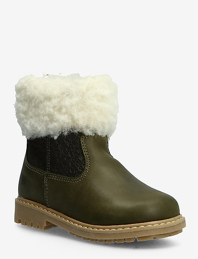 Timian Wool Top Boot - olive