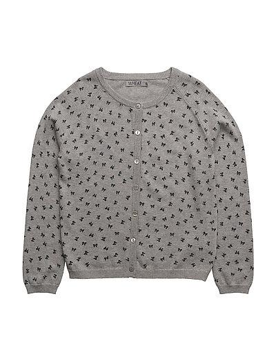 Knit Cardigan Print - MELANGE GREY