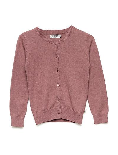 Knit Cardigan Rhinestones - PLUM