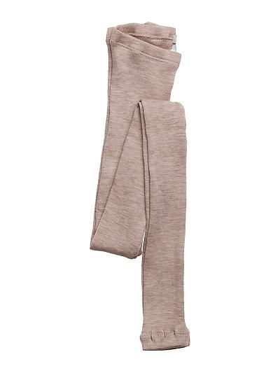 Wool Rib Leggings - FAWN MELANGE