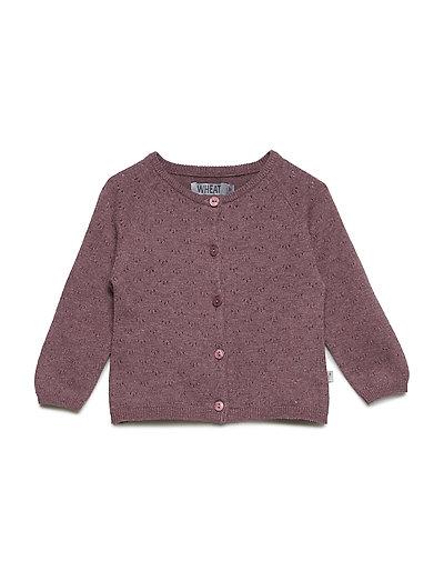 Knit Cardigan Maja - EGGPLANT MELANGE