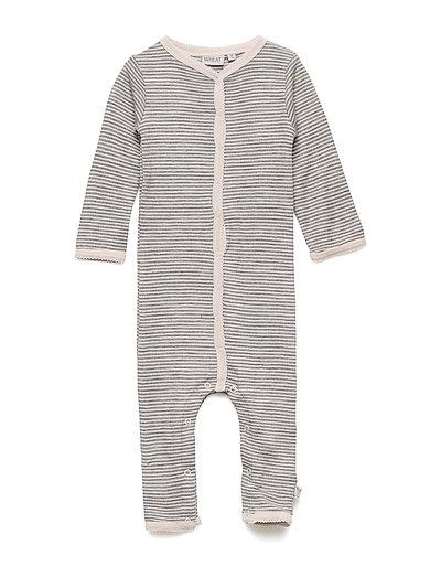 Plain Wool Jumpsuit Frill - PEONY