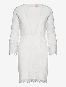 Filippa dress (normal length) - kanten jurken - cloud dancer