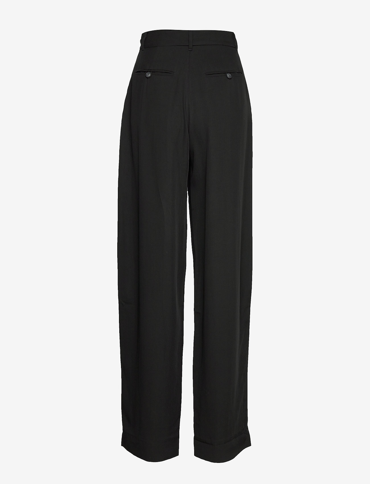 Whyred - MAXTON BELT - wide leg trousers - black - 1
