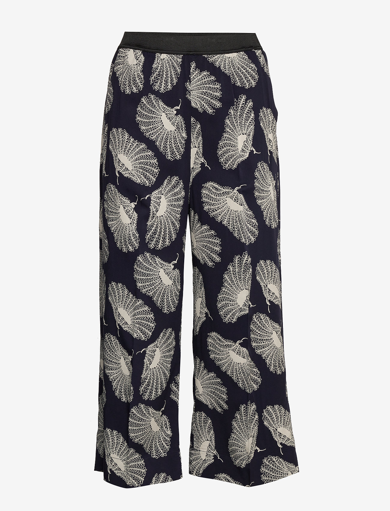 Whyred - POTTER POPPIES - wide leg trousers - classic navy - 0