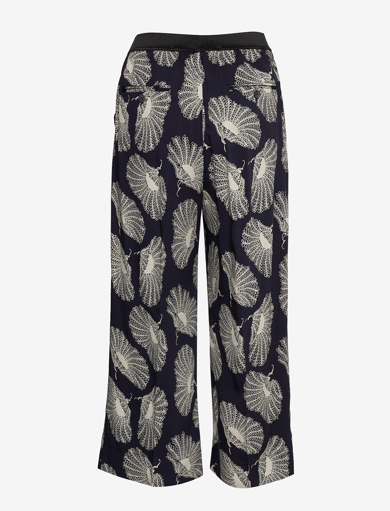 Whyred - POTTER POPPIES - wide leg trousers - classic navy - 1