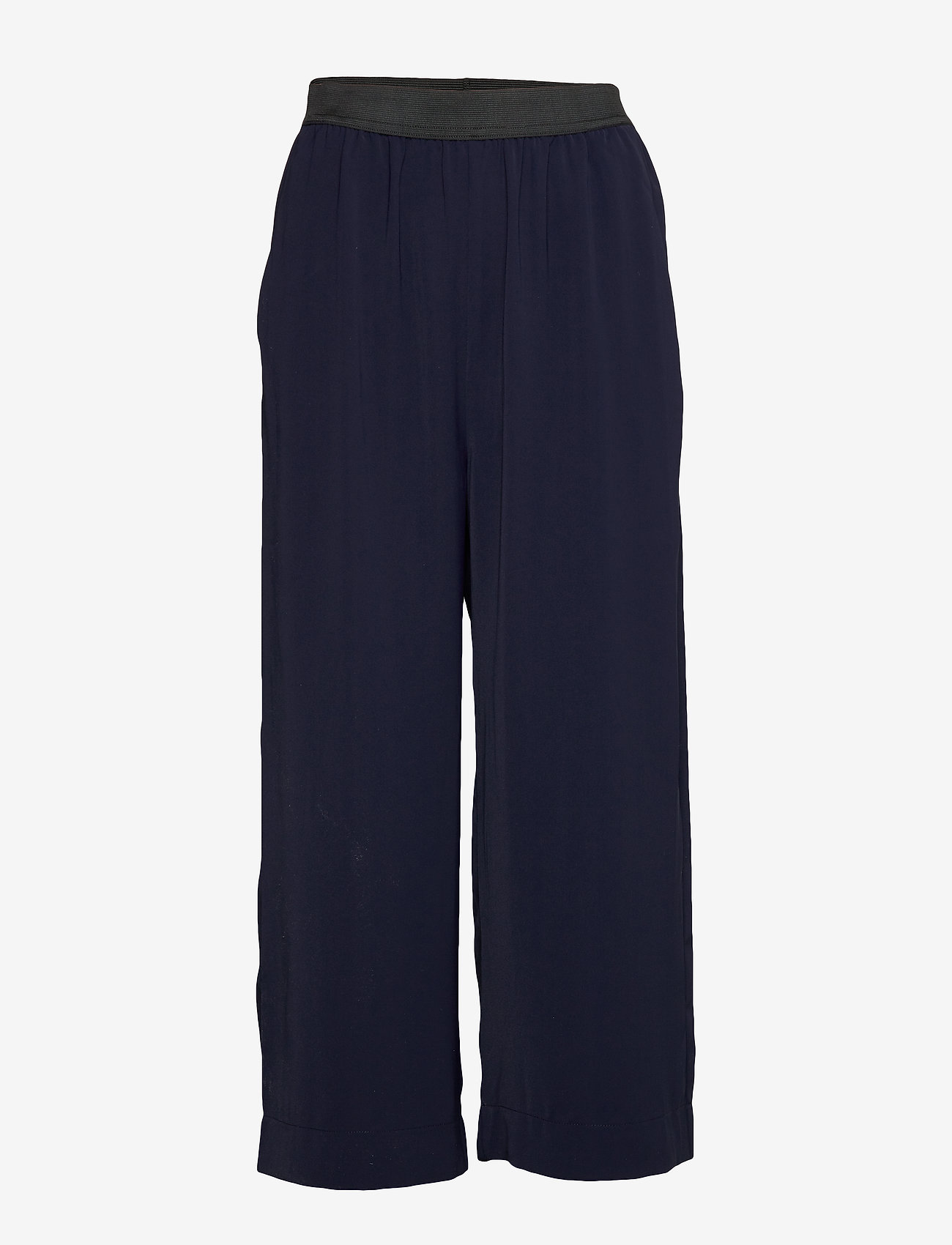Whyred - POTTER SOLID - wide leg trousers - classic navy - 0