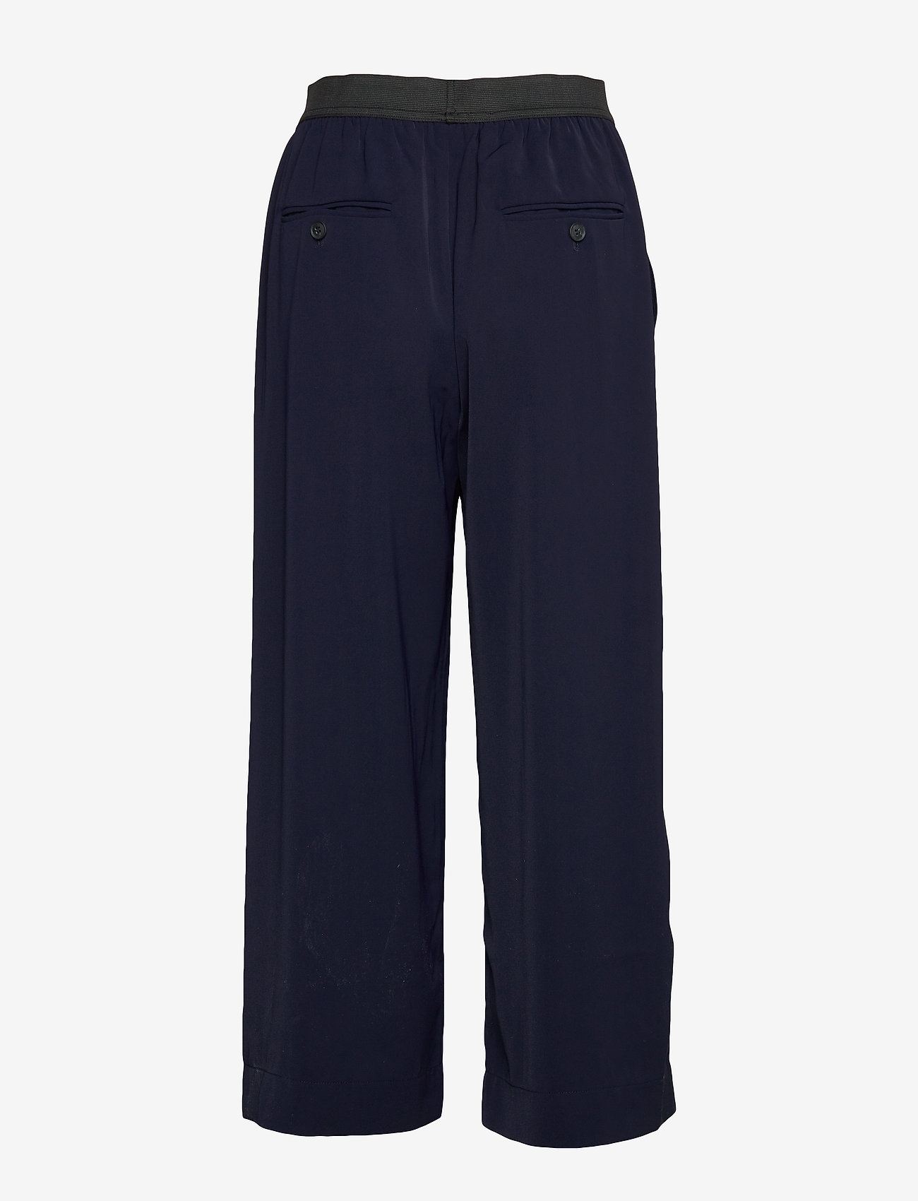 Whyred - POTTER SOLID - wide leg trousers - classic navy - 1
