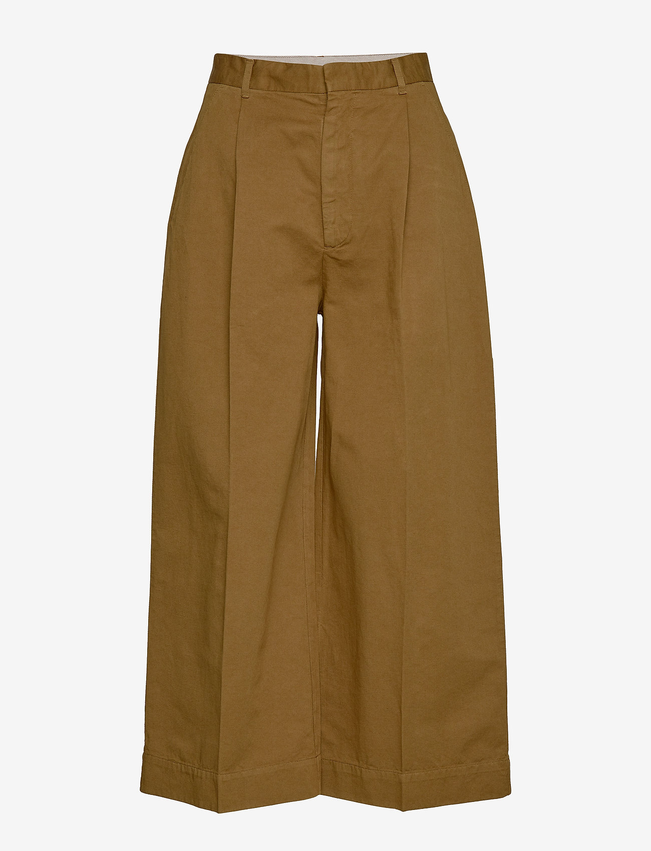 Whyred - REMILLY ONE PKT - wide leg trousers - military brown - 0