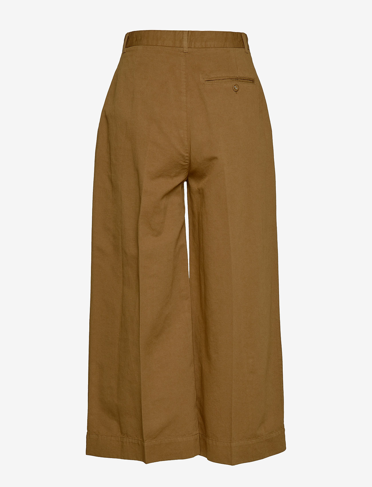 Whyred - REMILLY ONE PKT - wide leg trousers - military brown - 1