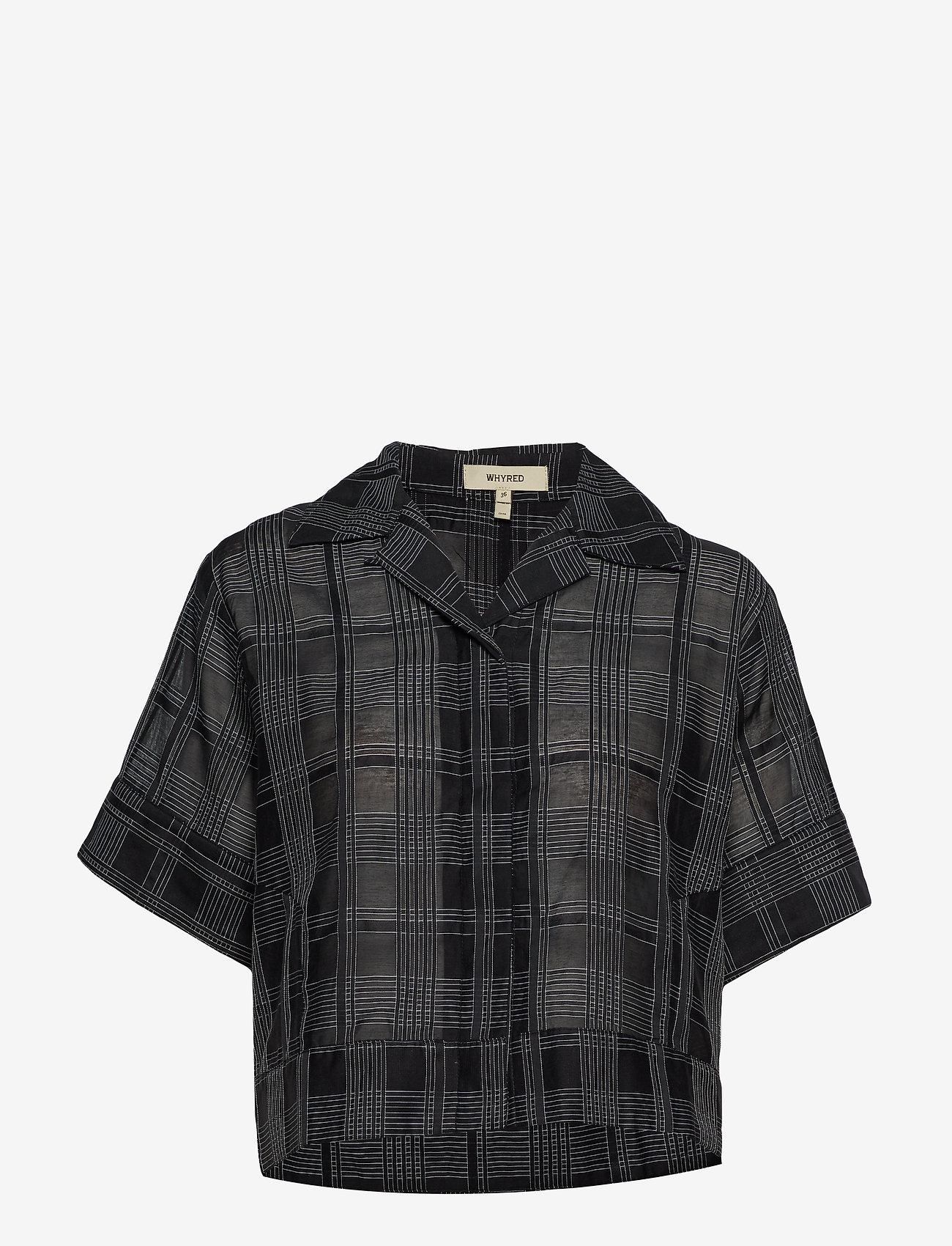 Whyred - MACKENZIE GEOMETRIC - chemises à manches courtes - black / white - 0
