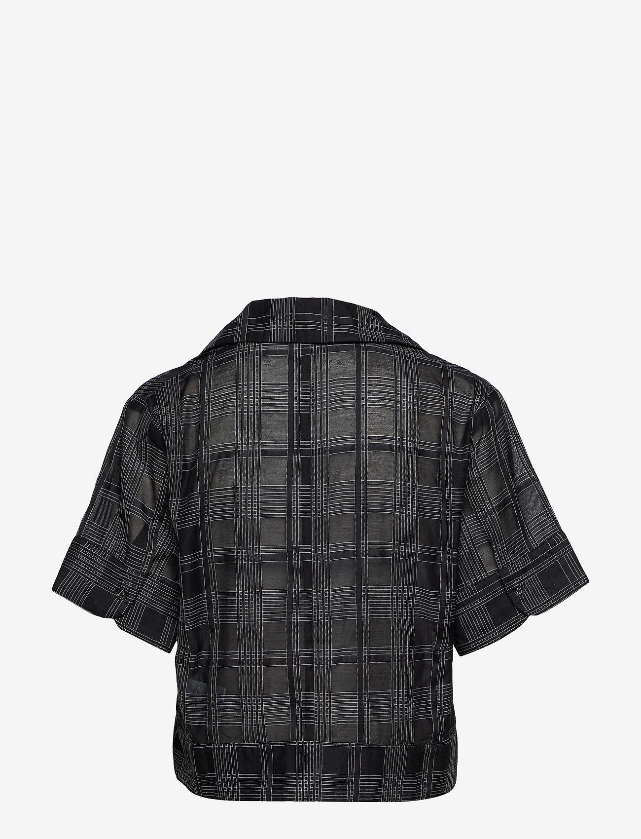 Whyred - MACKENZIE GEOMETRIC - chemises à manches courtes - black / white - 1