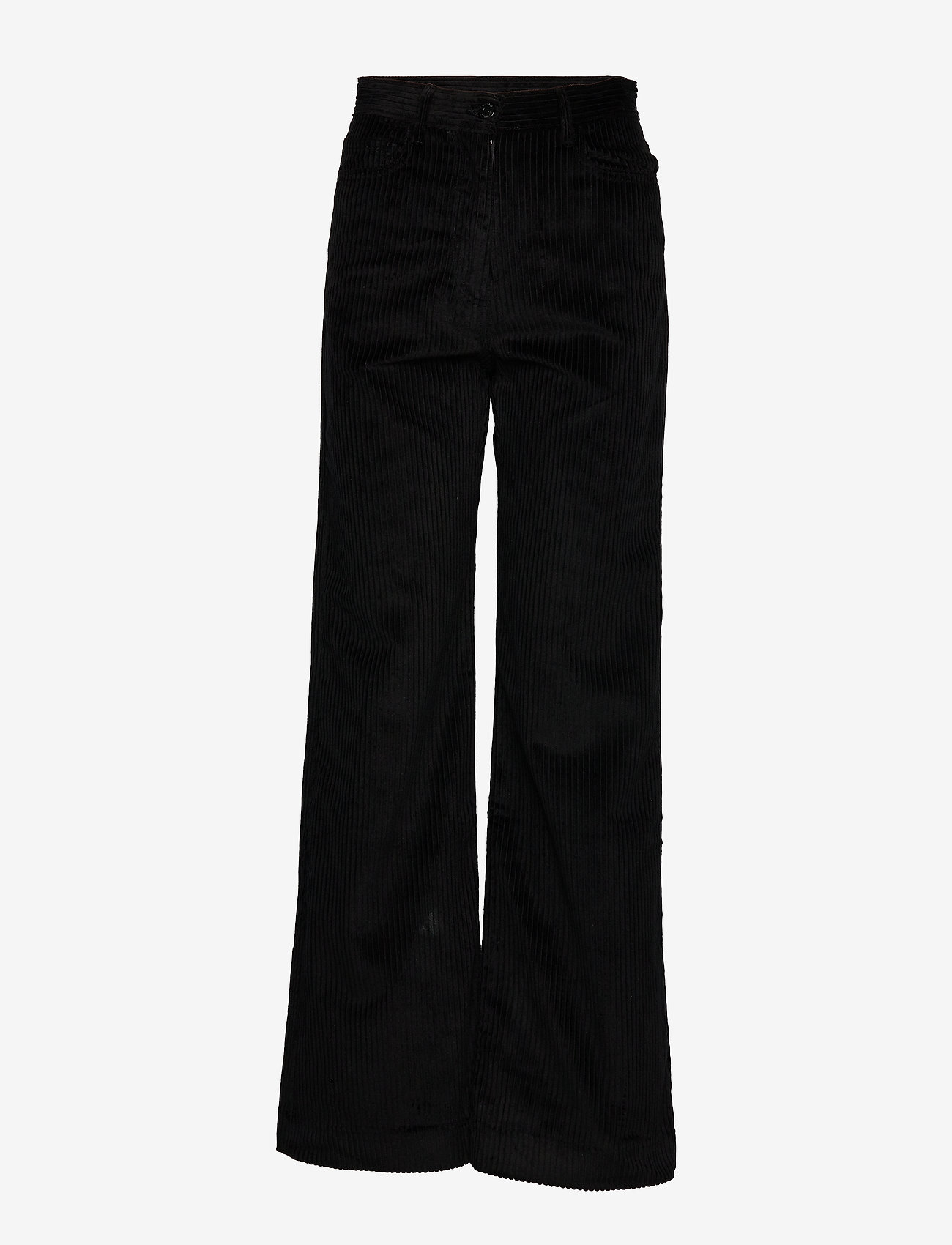 Whyred - RUTH - wide leg trousers - black - 0