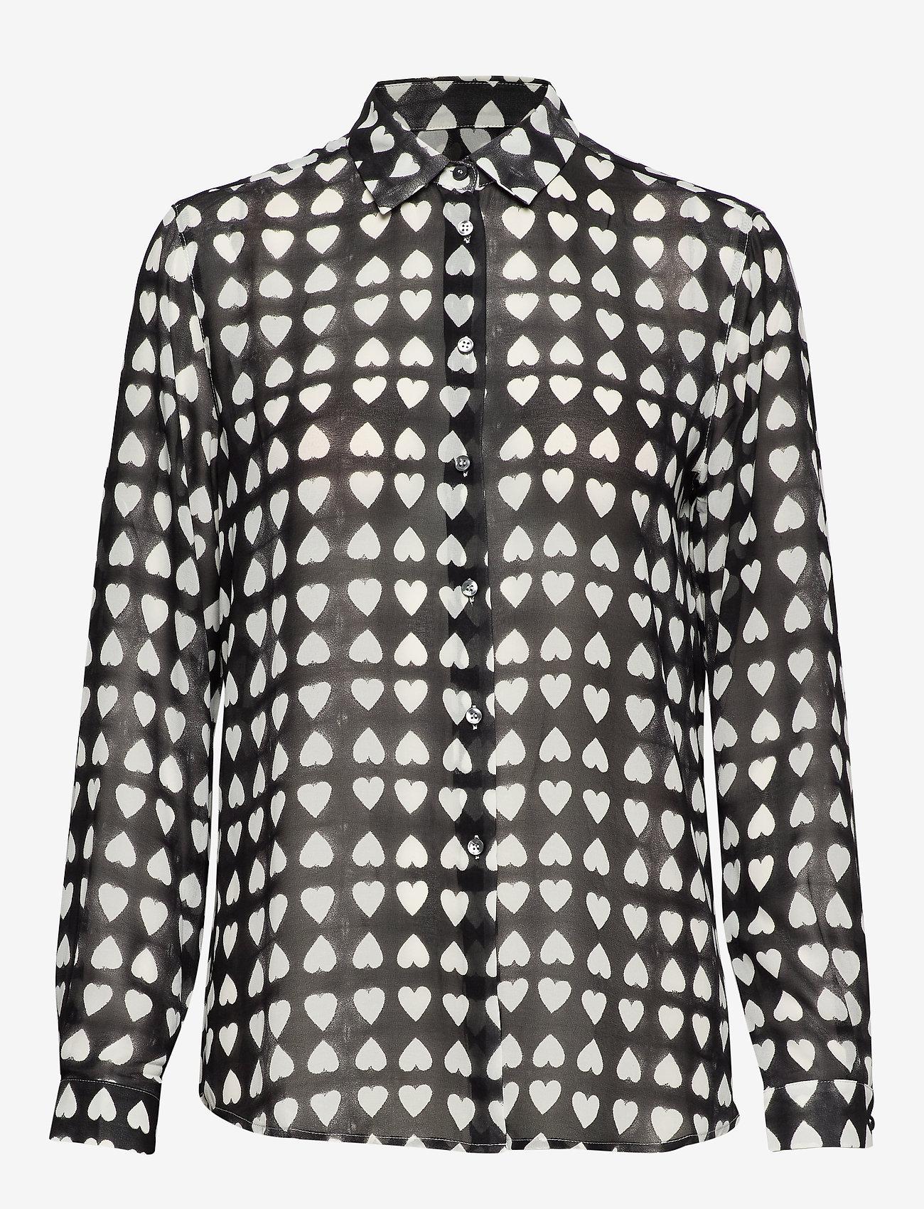 Whyred - KAROLINA DYED HEART - chemises à manches longues - black - 0
