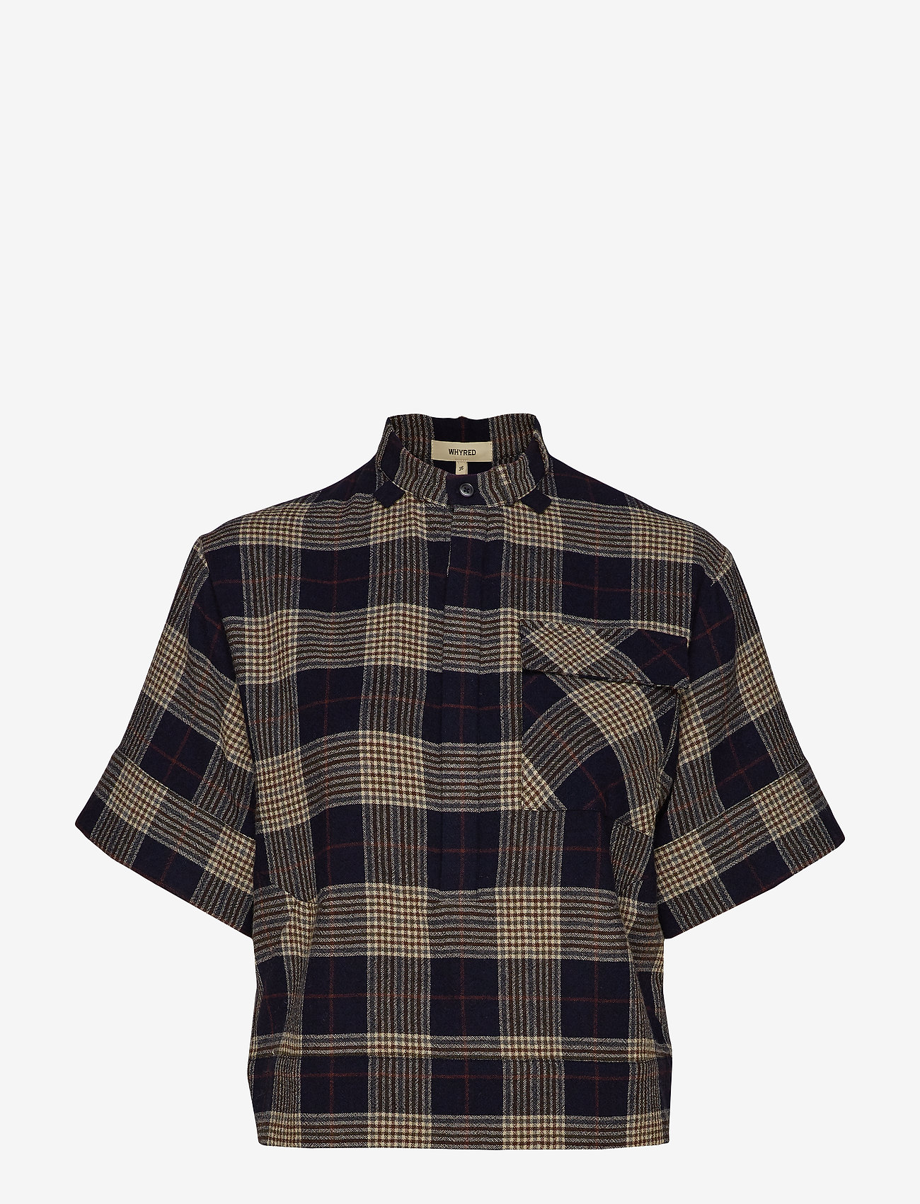 Whyred - PEYTON CHECK - chemises à manches courtes - classic navy - 0