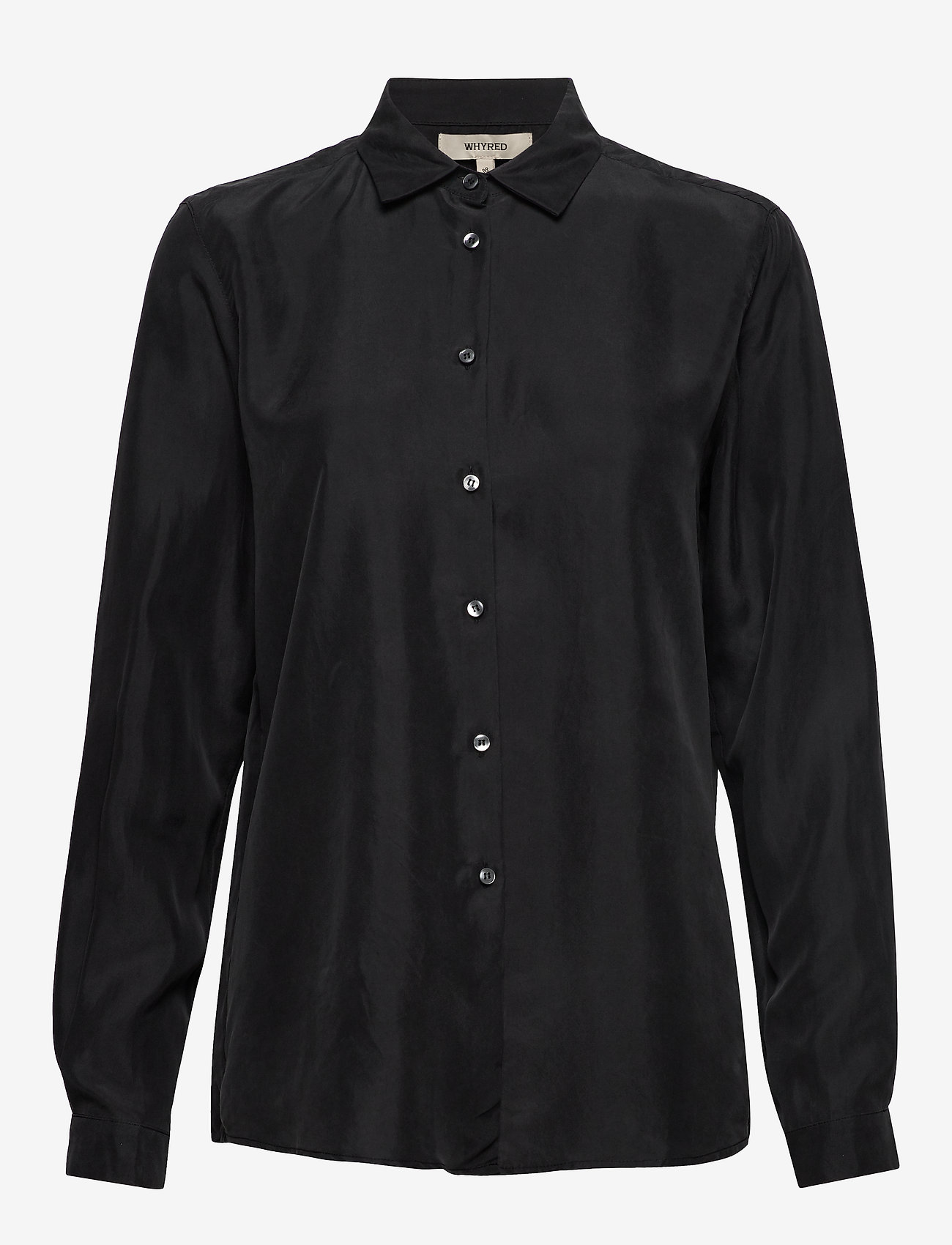 Whyred - KAROLINA WASHED SILK - blouses à manches longues - black - 0