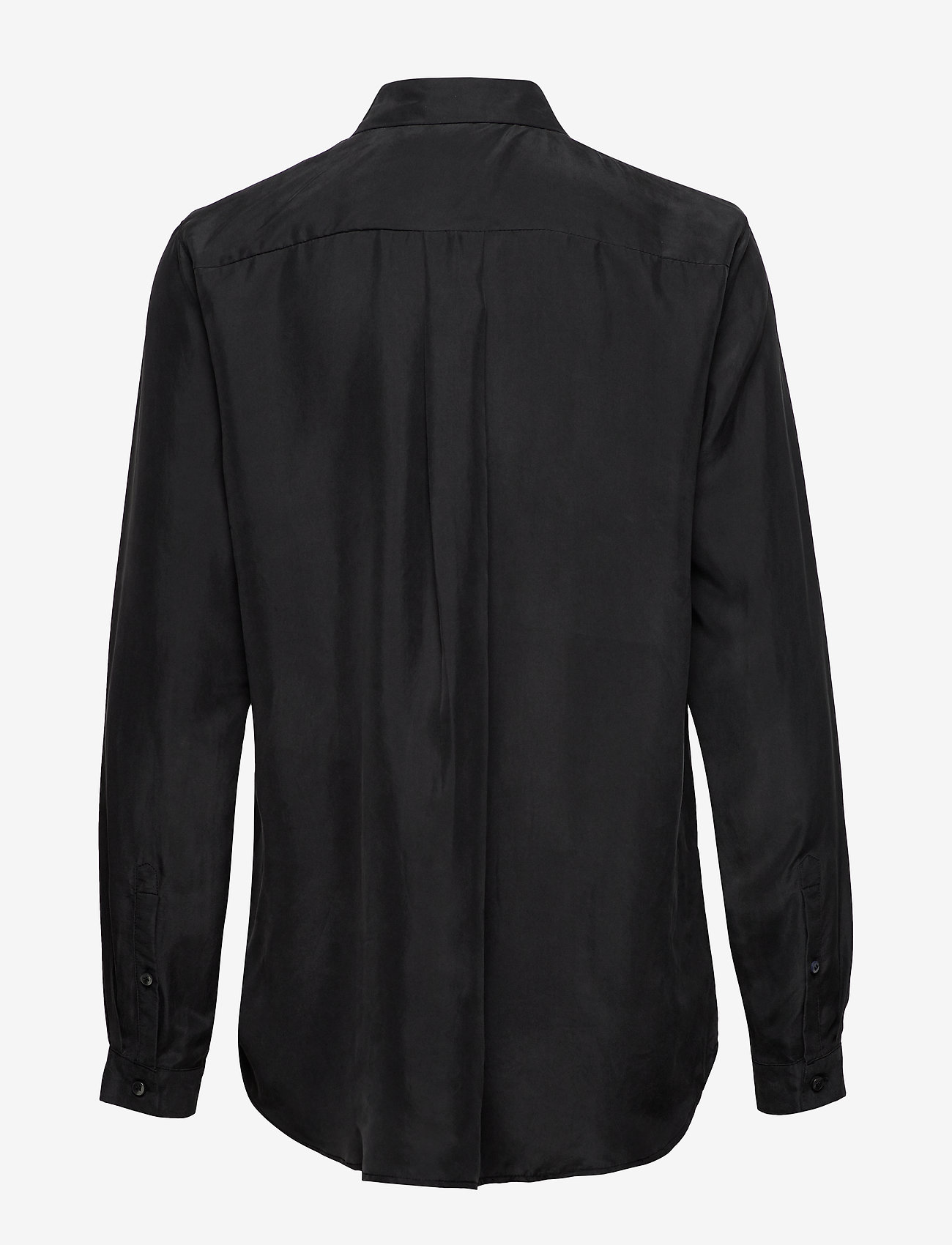 Whyred - KAROLINA WASHED SILK - blouses à manches longues - black - 1