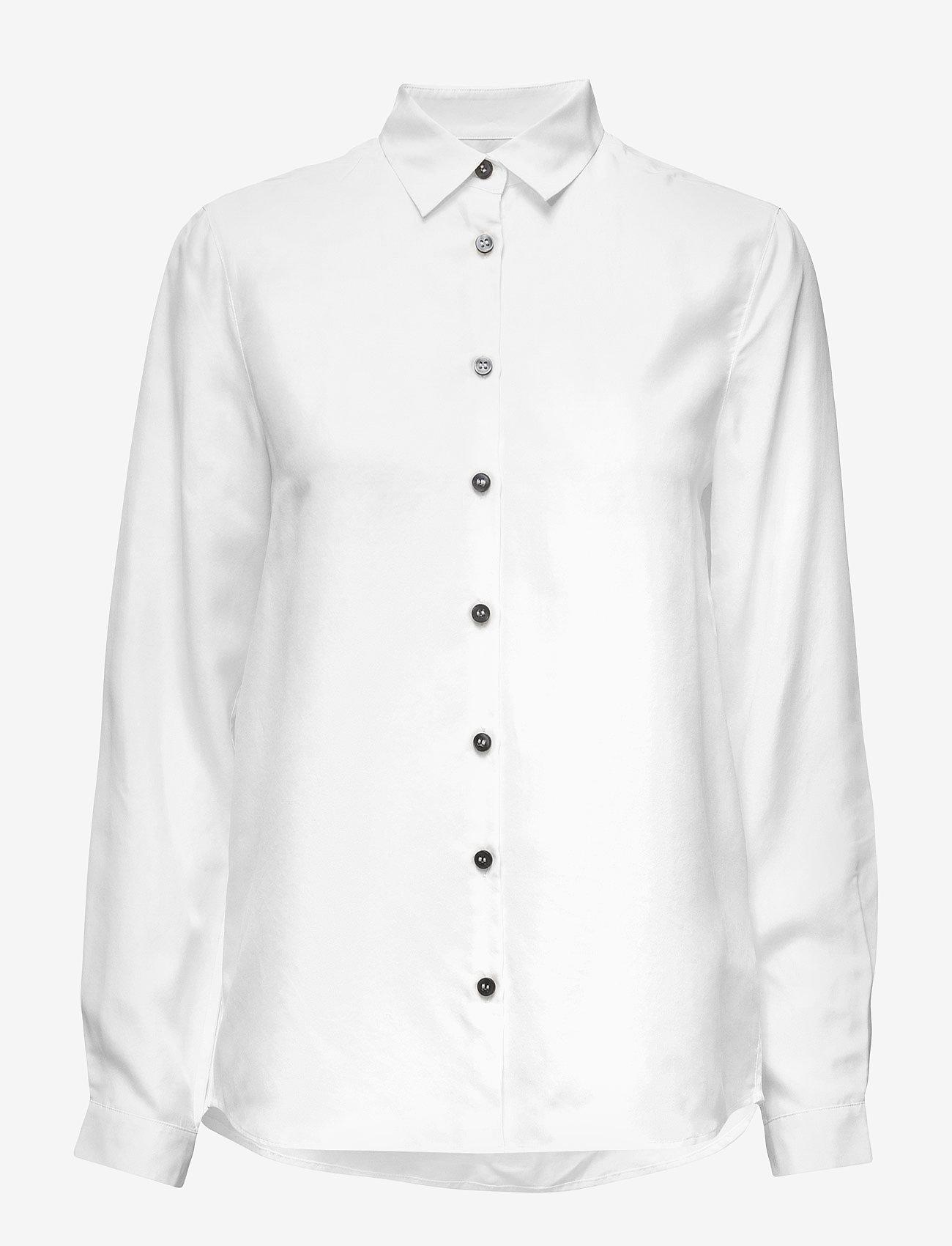 Whyred - KAROLINA WASHED SILK - blouses lange mouwen - off white