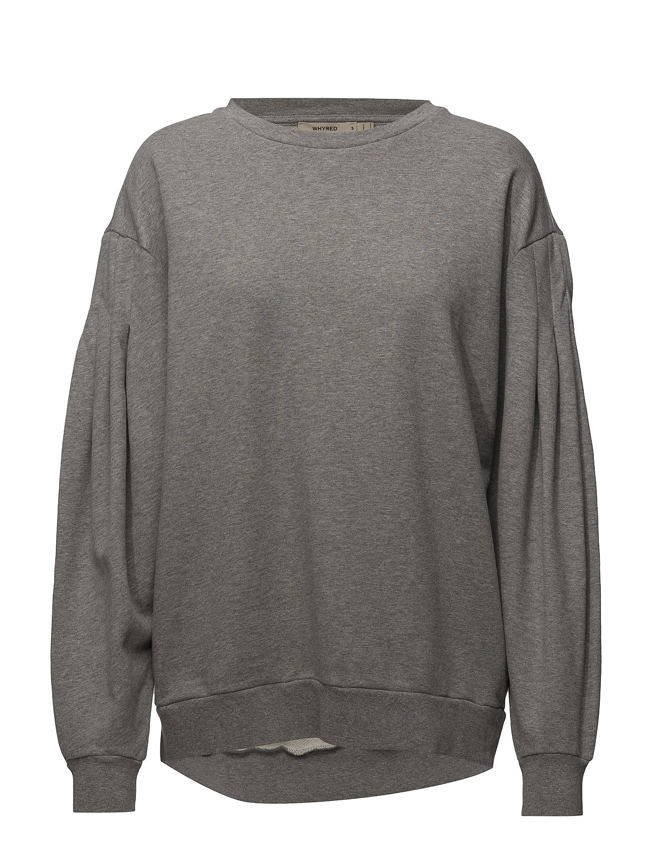 Whyred FLORA SWEATER PUFF - GREY MÉLANGE