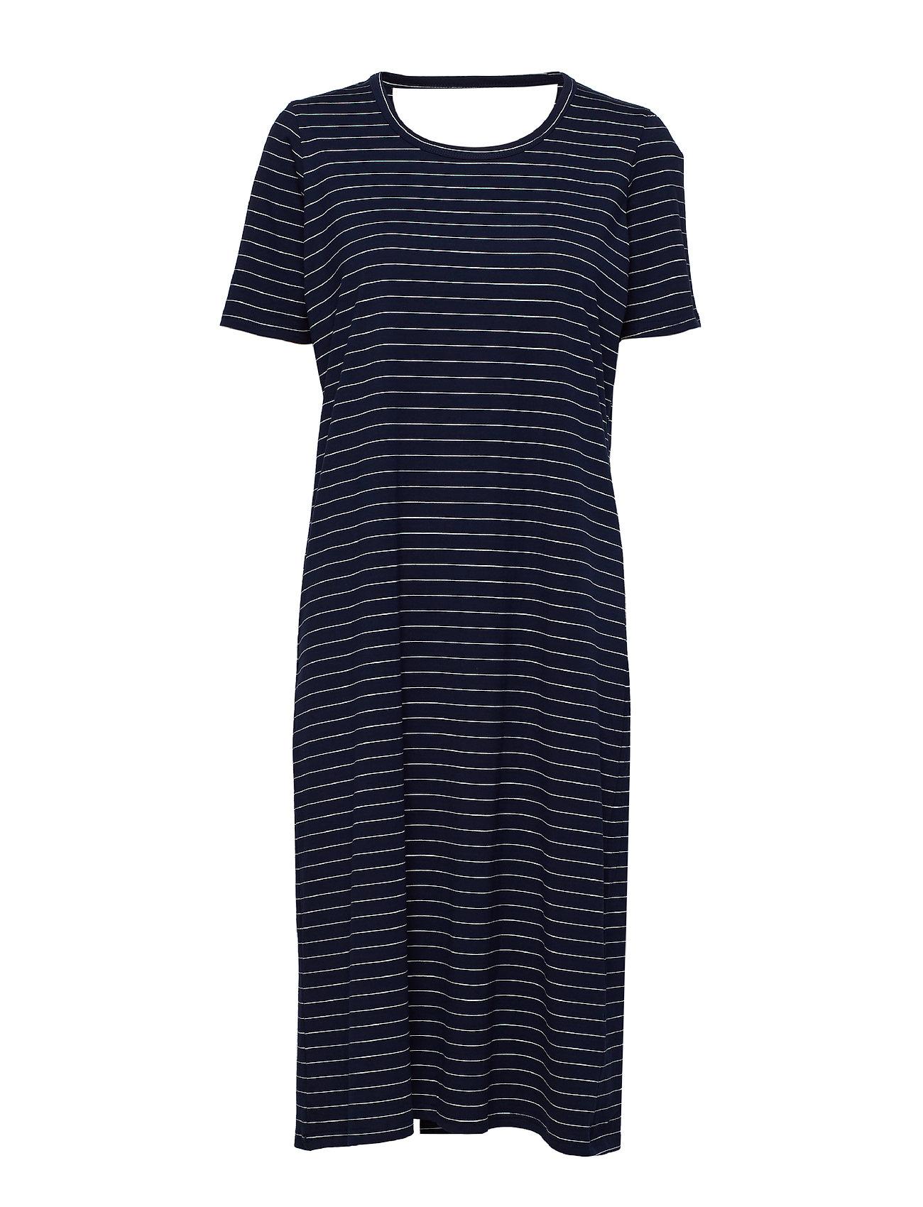Whyred FONDA DRESS STRIPE - CLASSIC NAVY