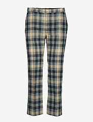 Whyred - CARNOT - slim fit trousers - blue check - 0